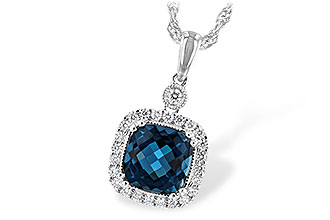 F208-10733: NECK 1.63 LONDON BLUE TOPAZ 1.80 TGW
