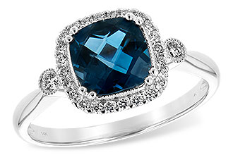 K208-10751: LDS RG 1.62 LONDON BLUE TOPAZ 1.78 TGW